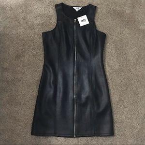 Black leather Jack by BB Dakota dress